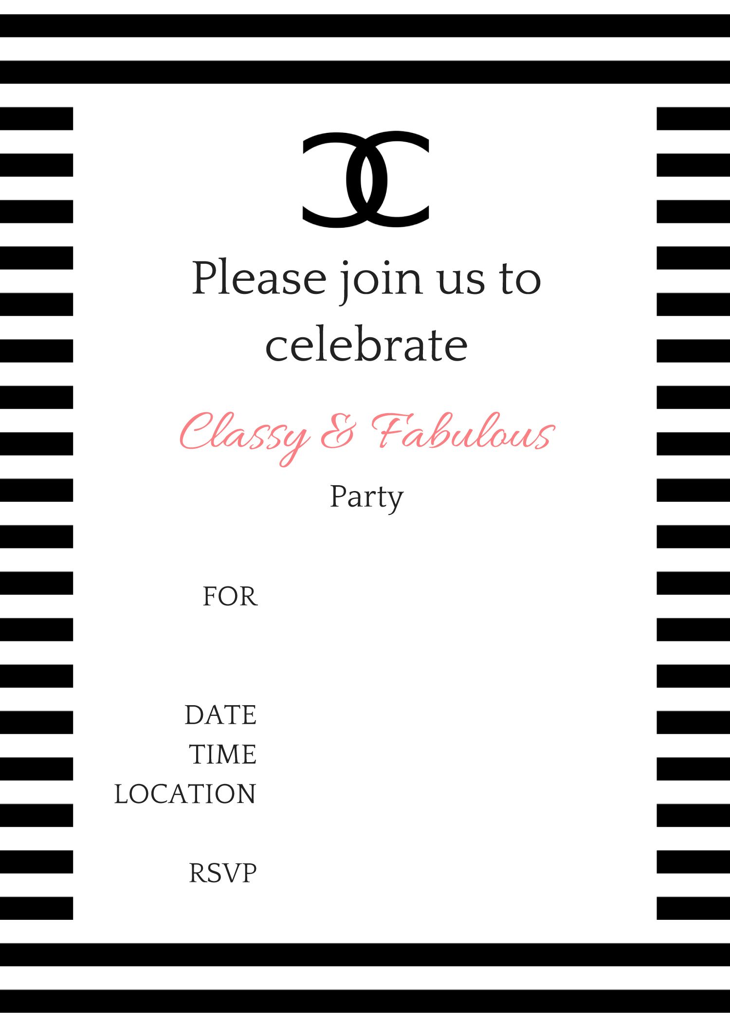 COCO Chanel Party Ideas   Chanel party, Birthday party ideas and ...
