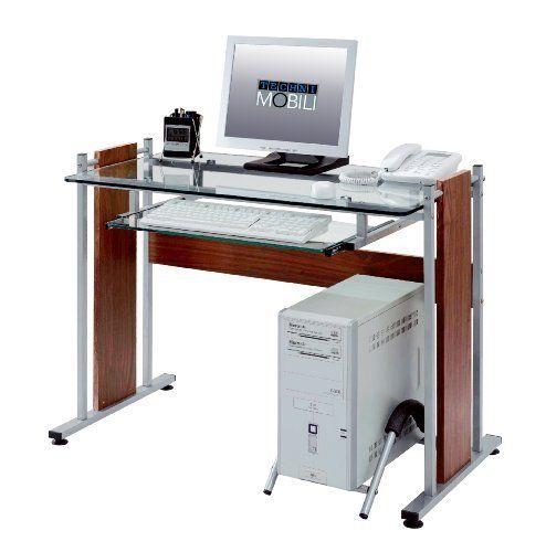 Tempered Gl Mdf Computer Desk
