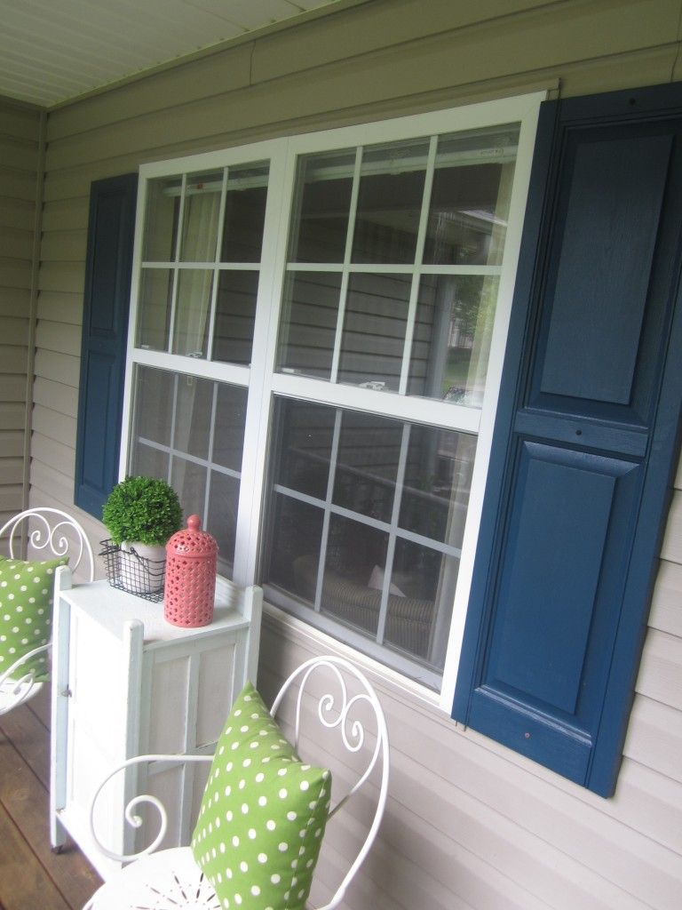 What Color Shutters Go With A Grey House Blue Shutters Doors
