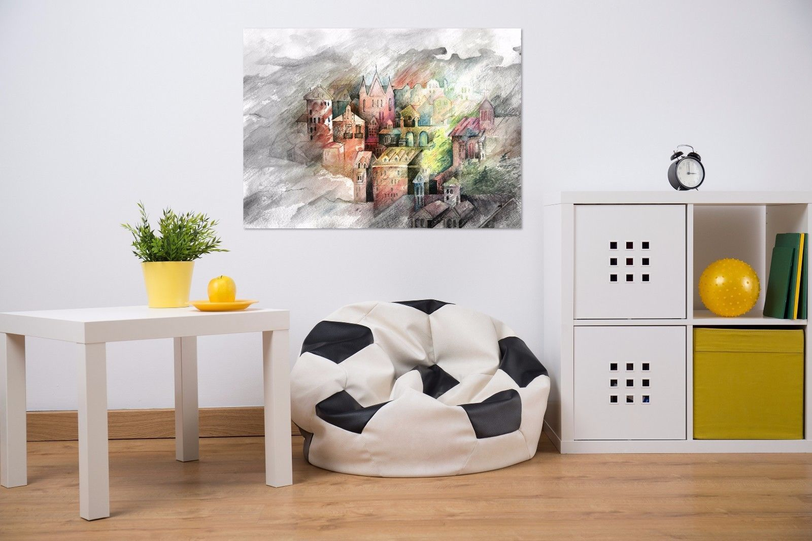D painted color castle wall stickers vinyl wall murals print