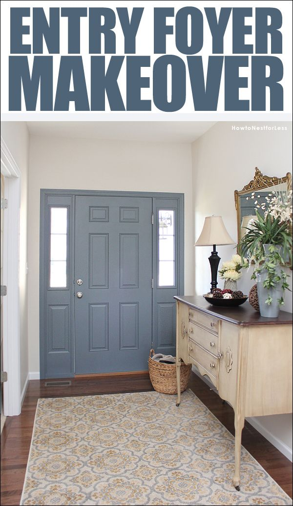 Paint The Inside Of Your Front Door To Add A Pop Color Entry Foyer