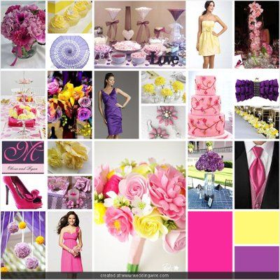 pink purple and yellow wedding | wedding | Pinterest | Yellow ...