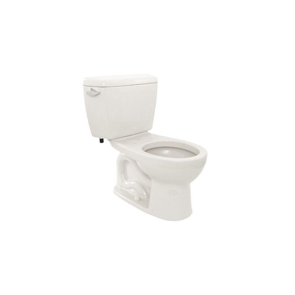 Toto Drake 2 Piece E Max Flushing System 1 28 Gpf Single Flush Round Eco Toilet In Cotton