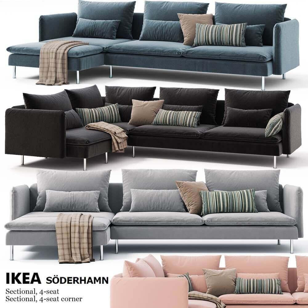 Corner Sofas Ikea Soderhamn 3d Model Ikea Sofa Set Ikea Sofa Ikea Corner Sofa