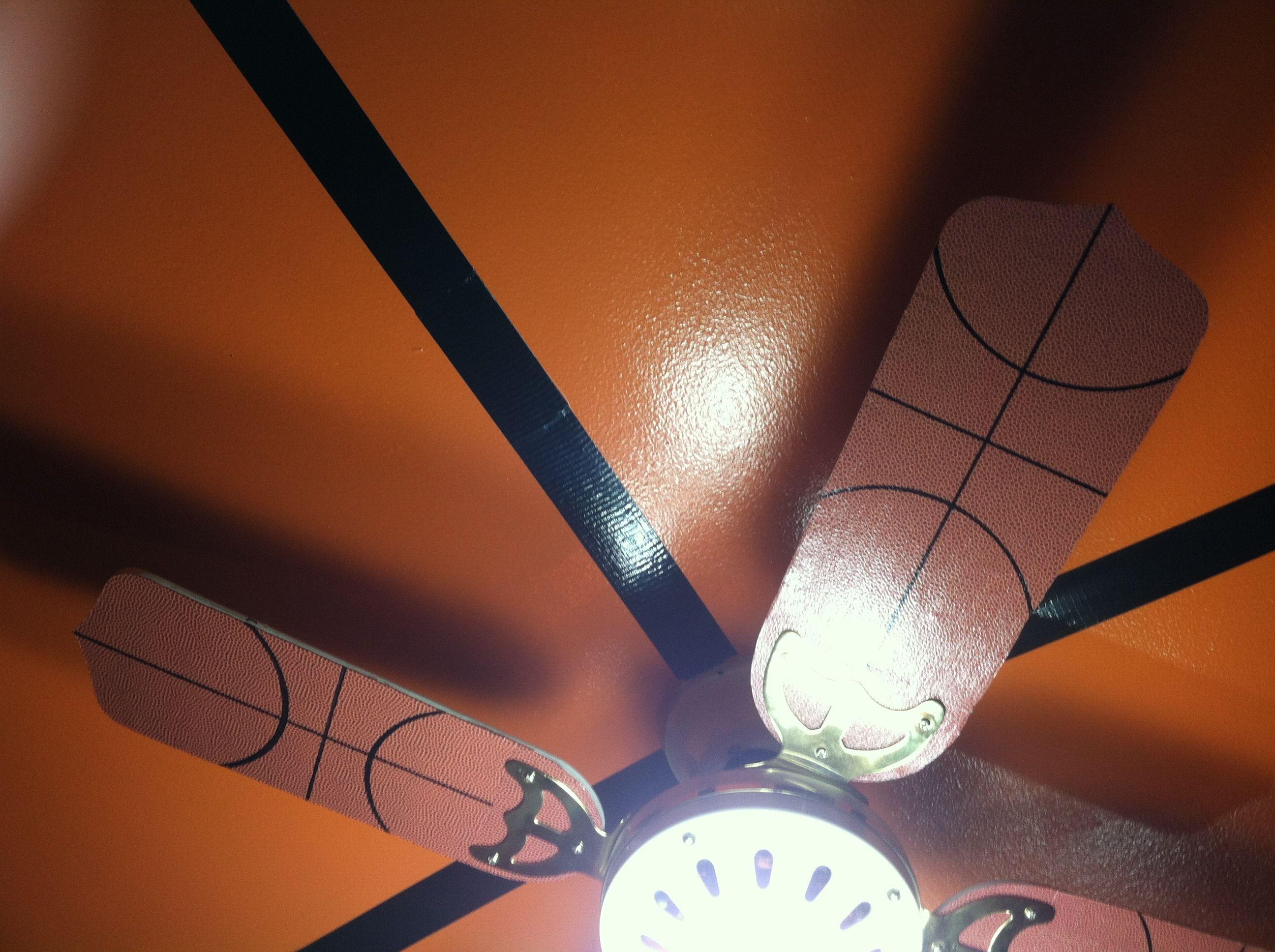 Basketball ceiling fan basketball bedroom pinterest ceiling basketball ceiling fan mozeypictures Images
