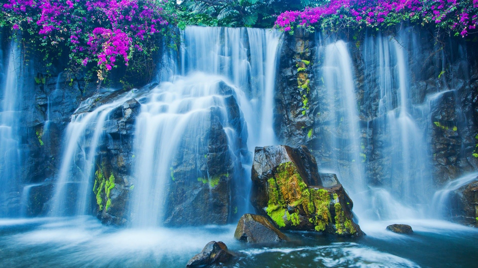 Pin By Diane Mckenna On Heaven S Canvas God S Artwork Waterfall Wallpaper Waterfall Beautiful Waterfalls