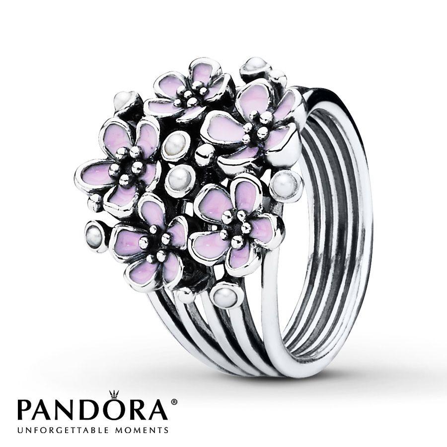 pink rings silver Jared Pandora Ring Pink Enamel Sterling Silver