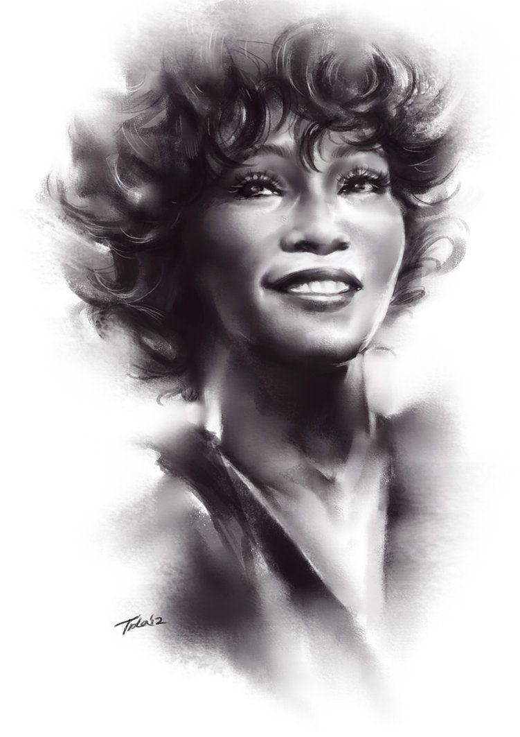 whitney black white. Whitney Houston Black White P