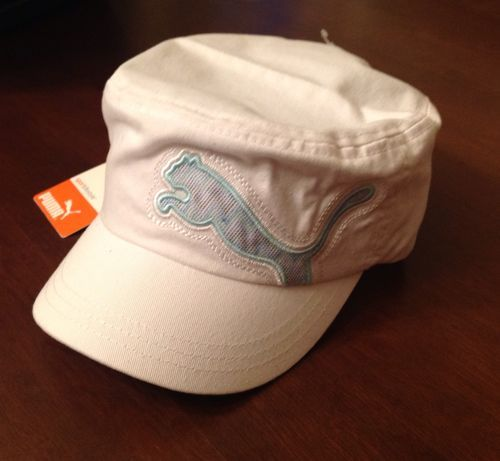 f29801a3 Puma White Clairmont Sport Golf Military Cadet Cap Hat Adjustable One Size  | eBay $17.99