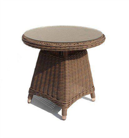 Bayshore Outdoor Wicker End Table Pletenaya Mebel Rotanga Interer