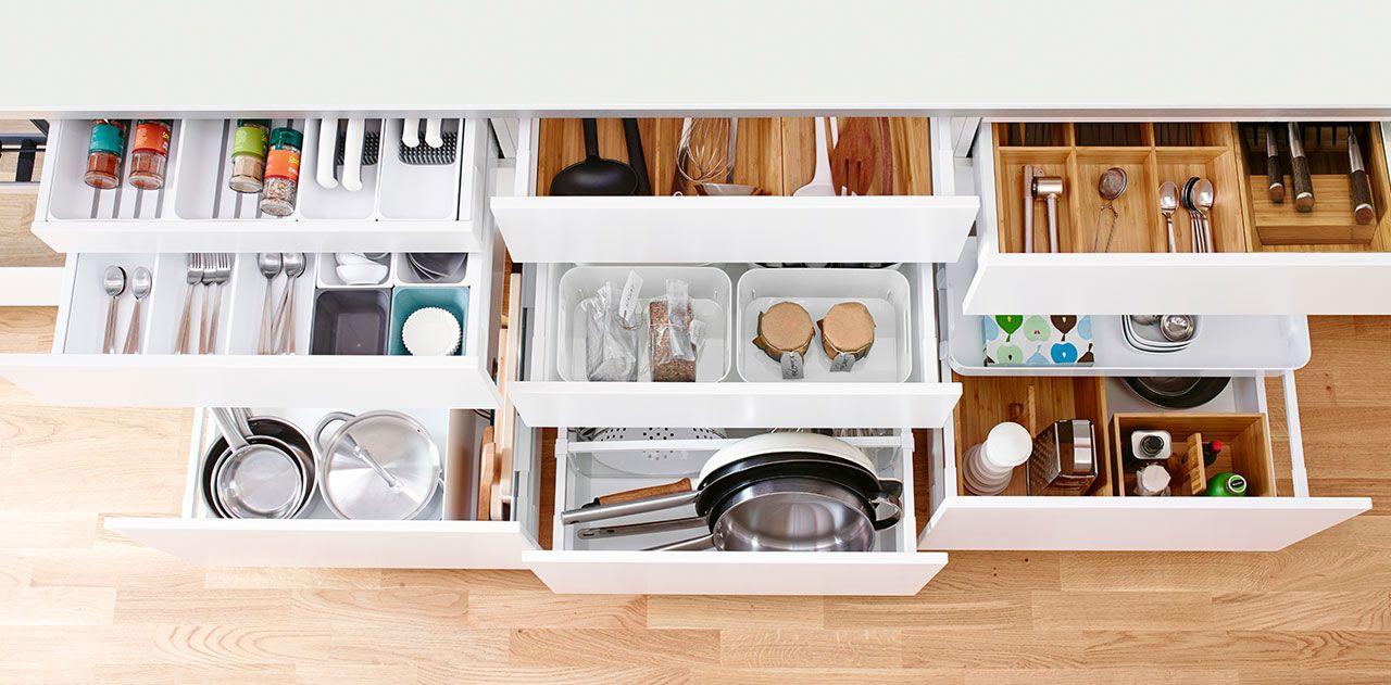 almacenaje cocina cajones   Estantería   Pinterest