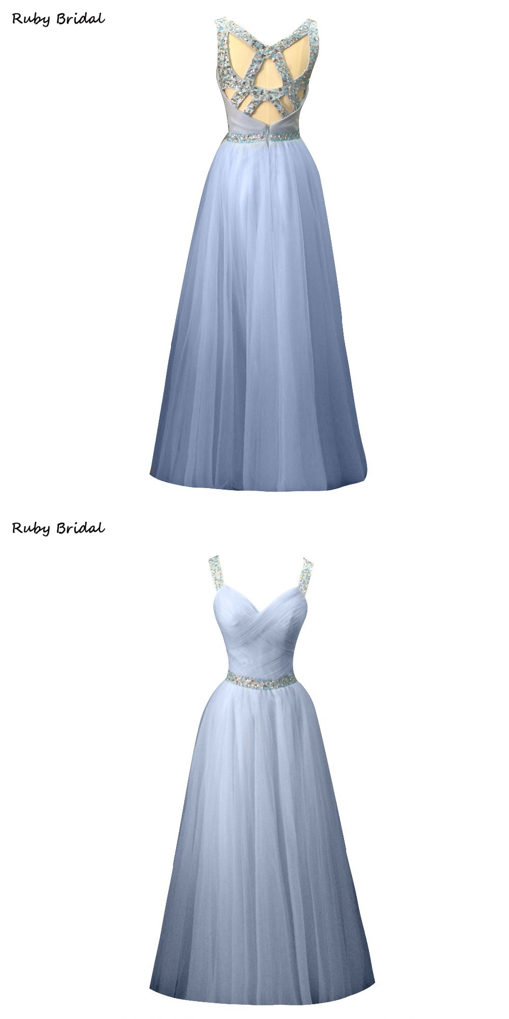 Luivresse vestidos de fiesta long light blue tulle pleats