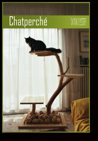 arbre a chat bois massif. Black Bedroom Furniture Sets. Home Design Ideas