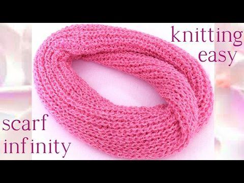 Cómo Tejer BUFANDA INFINITA FÁCIL y RÁPIDA - How to Knit an Infinity ...