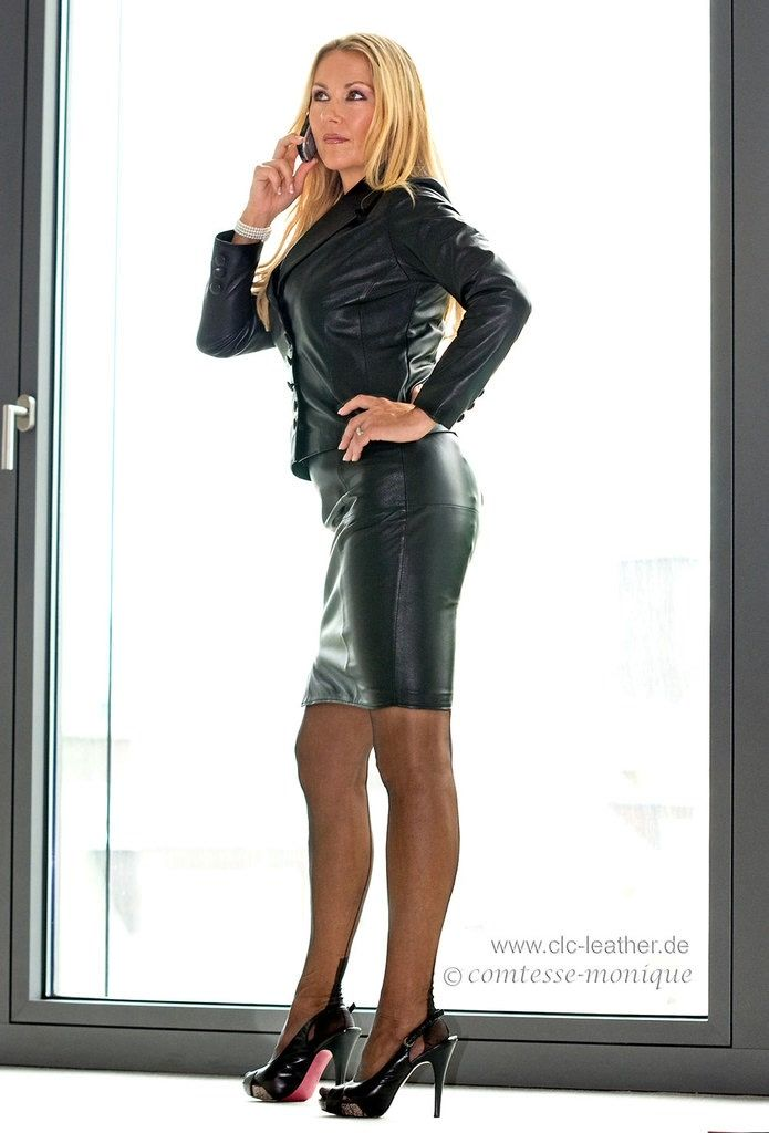Office Girls Staff 3 Pinterest Leather Sexy Skirt
