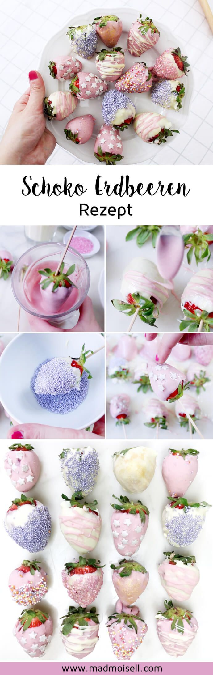 Schoko Erdbeeren selber machen: Super einfaches Rezept! #sweetrecipes