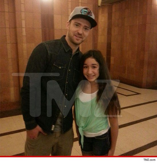 Justin Timberlake -- STOPS MEDIA TOUR  For 13-Year-Old