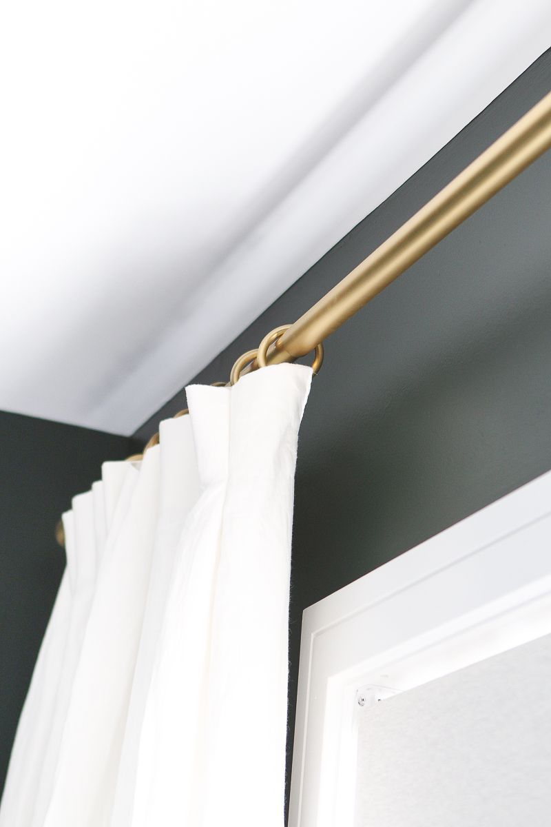 How To Hang Curtains In A Bedroom In 2020 Gold Curtains Gold Curtain Rods Hanging Curtains