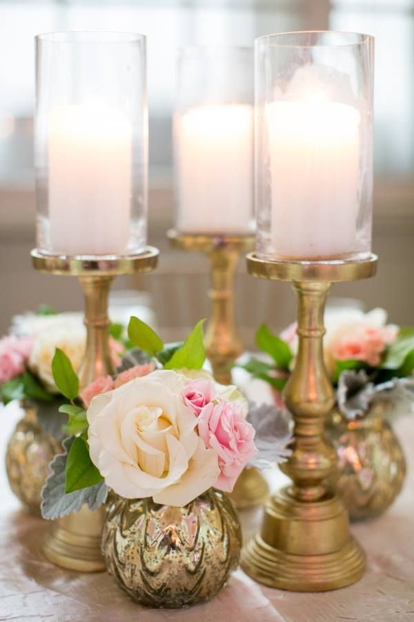 ATHENA Silver or Gold Candleholders in 3 Sizes