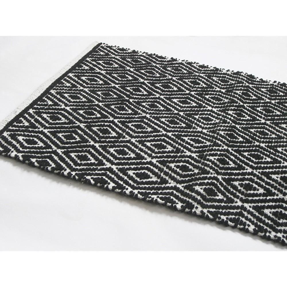 Diamond Pattern Cotton Chenille Rug