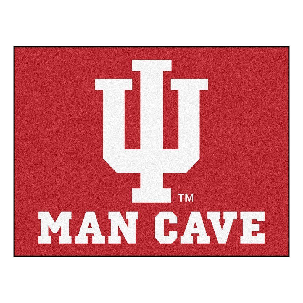 Indiana Hoosiers Man Cave Area Rug