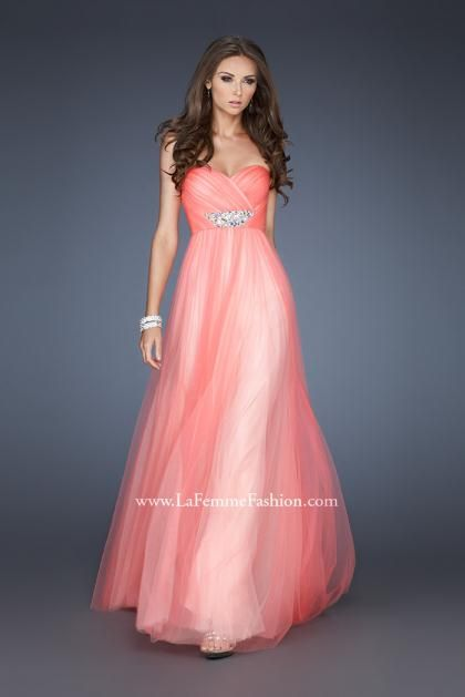 1000  images about Prom/Formal * Peach, Coral, & Orange Dresses on ...
