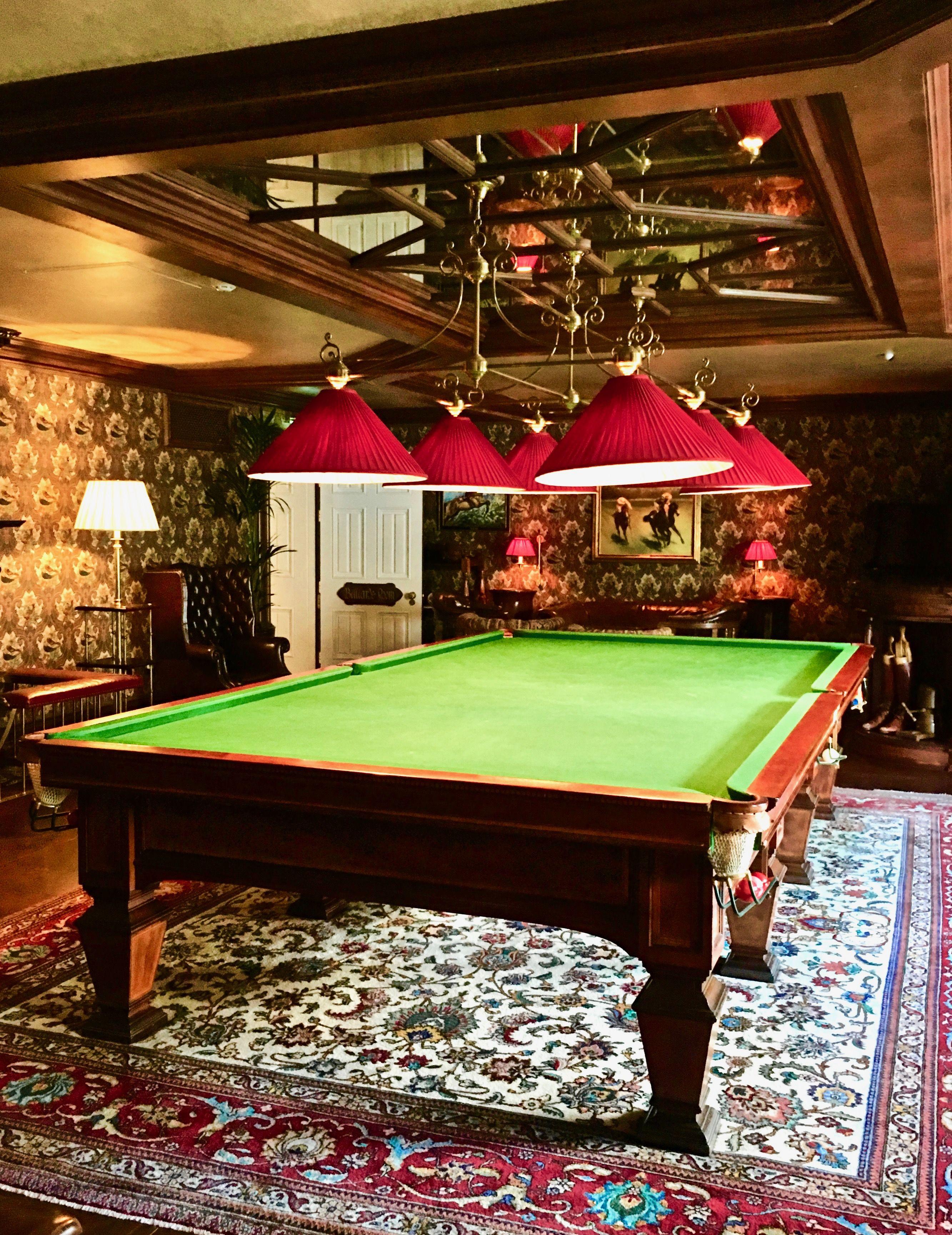 The Billiard Room at historic Ashford Castle