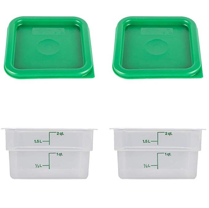Cambro Set Of 2 Square Food Storage Containers With Lids 2 Quart 2 Quart Set Of 2 Review Food Storage Containers Food Storage Cambro