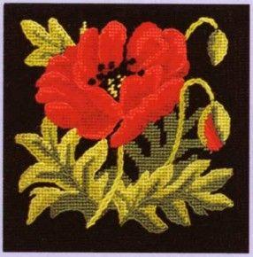 Poppy needlepoint