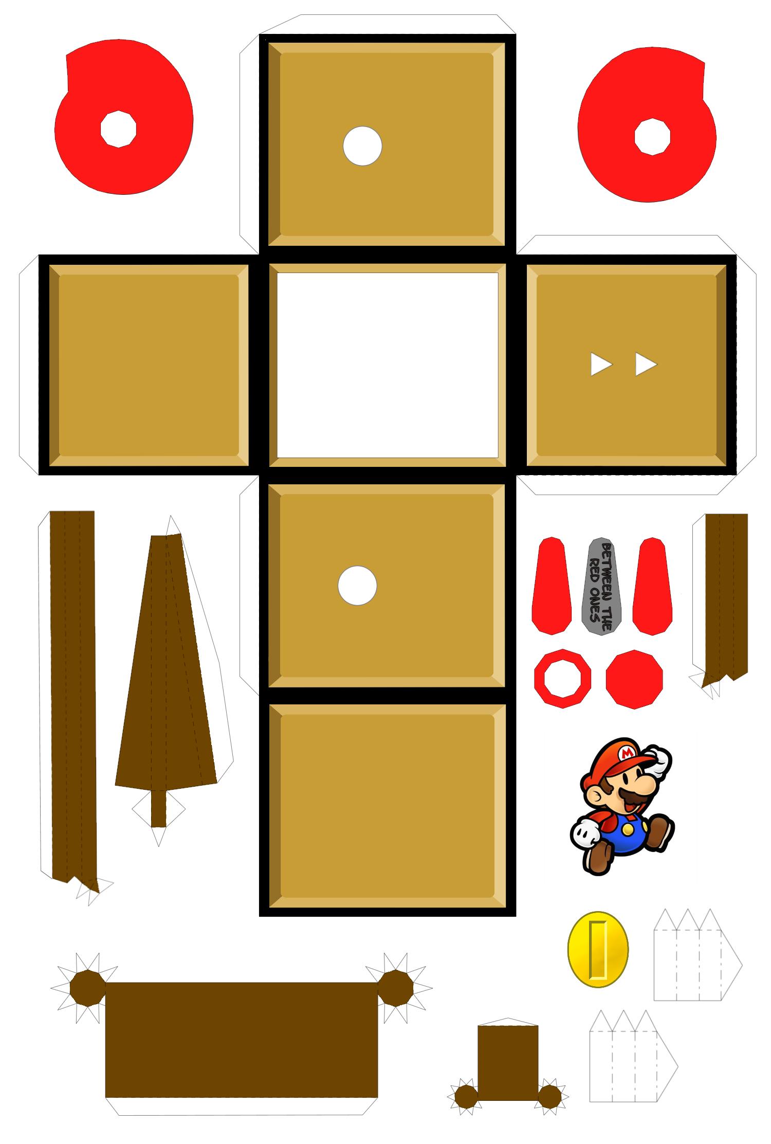 Mario Automaton Template 2 Sinterklaas Knutselen Mario
