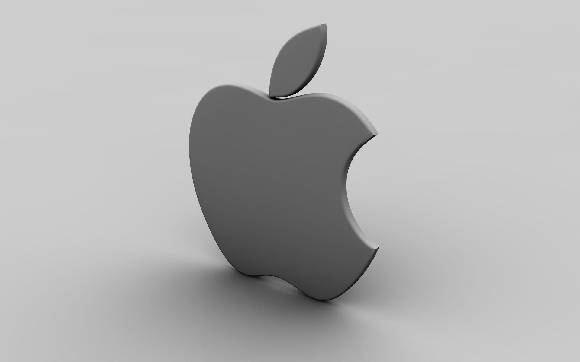 3d Apple Gray 3d Apple Gray Dj Music Wallpapers Background