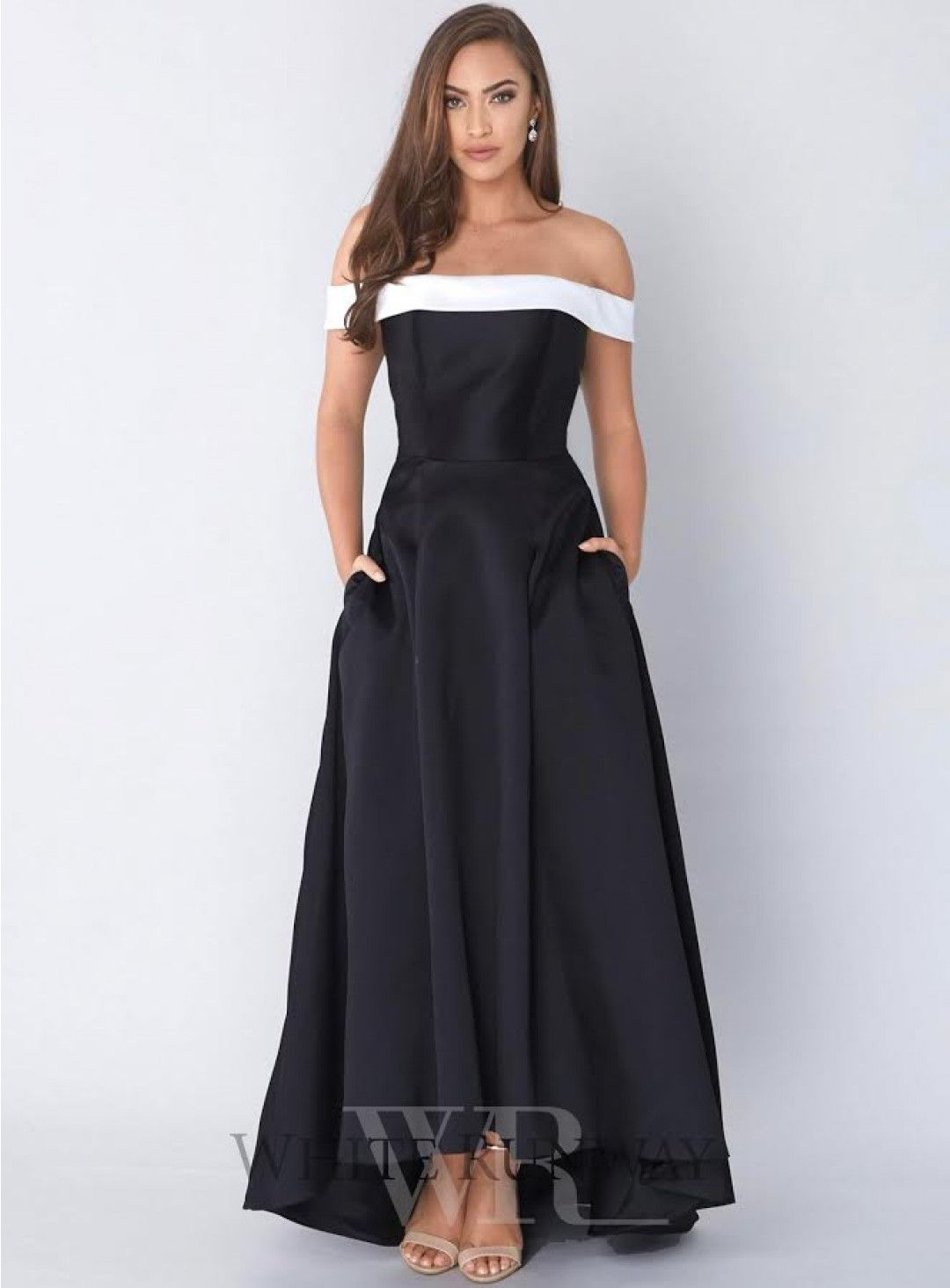 a316c26d9d4e Darcy Dress. A beautiful hi-lo dress by Tinaholy. An off shoulder style  featuring a straight neckline and flared skirt.