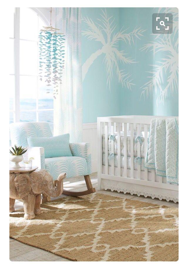 Blue Nursery Chic Nursery Girl Nursery Themes Nursery Room