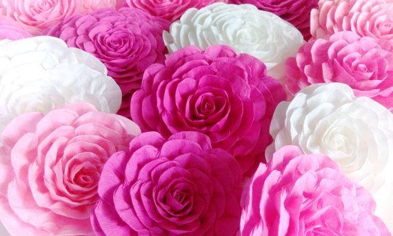 8 Giant Crepe Paper Flower Bridal Kate Shower Spade By Flower4you