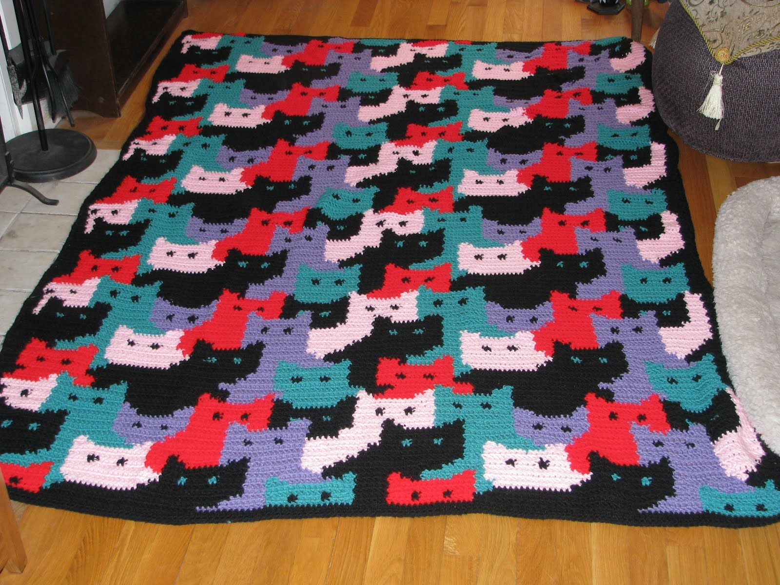 Free Crochet Pattern Pet Blanket : Cat Blanket Pattern-Free Wallpapers Crochet Cat Patterns ...