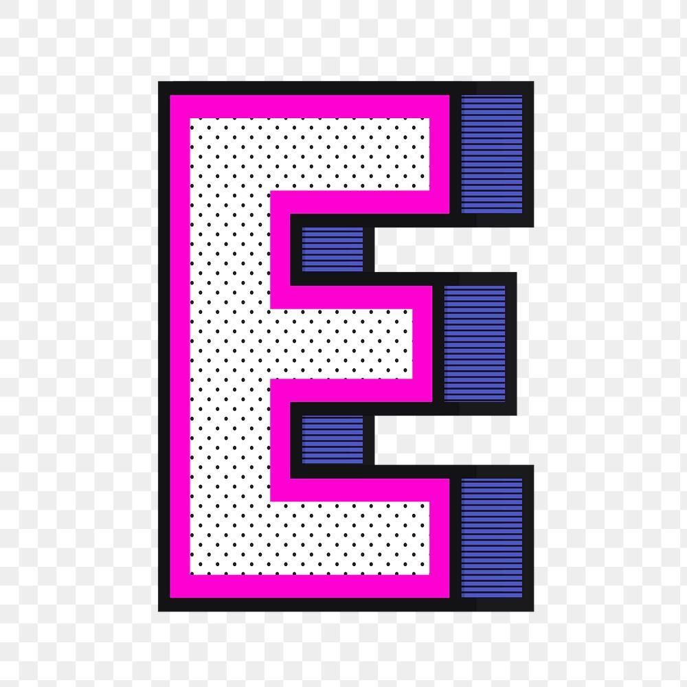 Letter E Png 3d Halftone Effect Typography Free Image By Rawpixel Com Wan Typography Hand Drawn Typography Japanese Typography