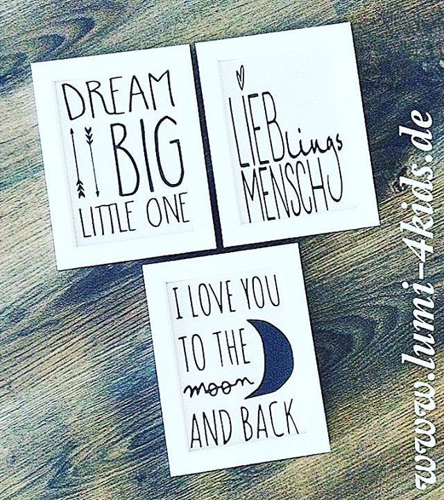 3er Bilderset (gerahmt)   www.lumi-4kids.de #kidsroom #interiordesign #walldecor #iloveyoutothemoonandback #dreambig #lieblingsmensch #babyroom #deko #mom #momtobe #handmadewithlove #handmade #kids #goodmorning #gutenmorgen #sunday #lumi_4kids