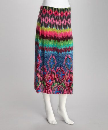 Take a look at this Pink Zig Zag Skirt by Play with Prints: Women's Apparel on #zulily today!