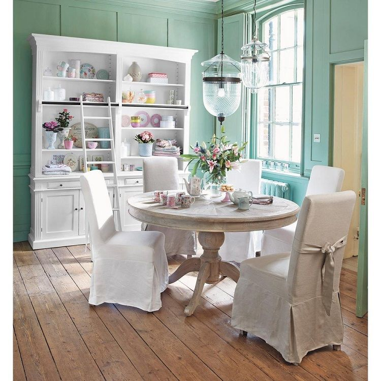 table ronde de salle manger en bois neuilly maisons du. Black Bedroom Furniture Sets. Home Design Ideas