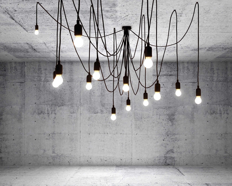 Lustre Modulable 14 lumières Maman Noir Seletti | Maison