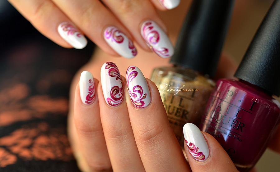 Nail Art Lgant Baroque Vernis Nails Pinterest