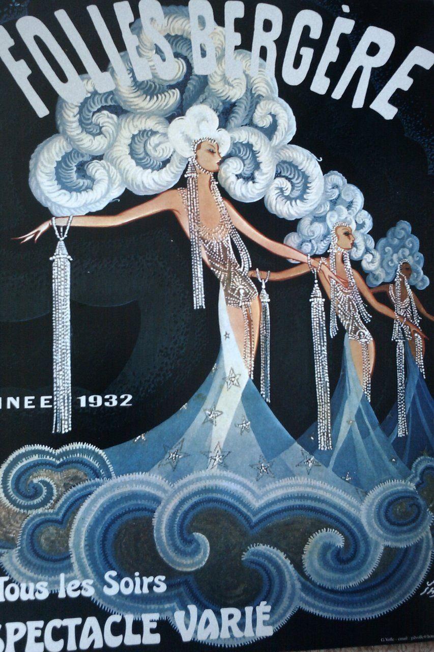 Folies-Bergiere #2 Vintage French Nouveau France Poster Print Art Advertisement