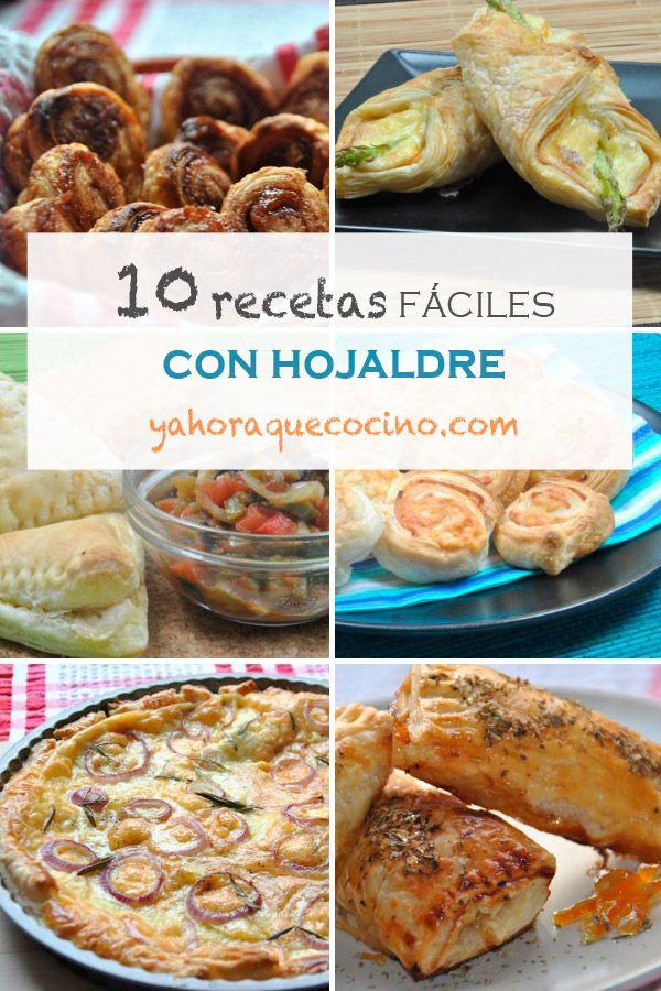 10 Recetas Fáciles con Hojaldre, nuestra recopilación de recetas dulce, saladas, para niños y fiestas. Todo un mundo de inspiración hecho con hojaldre.