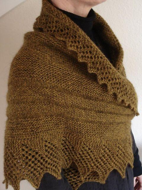 Free pattern | Sacos crochet | Pinterest | Chal, Tejido y Dos agujas