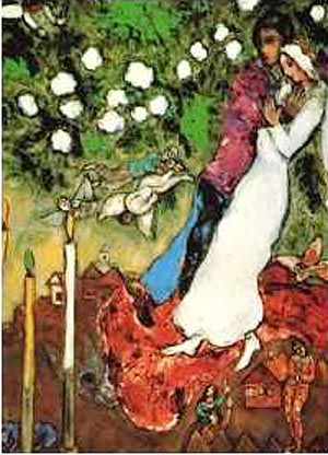 "Marc Chagall--""Three Candles"""