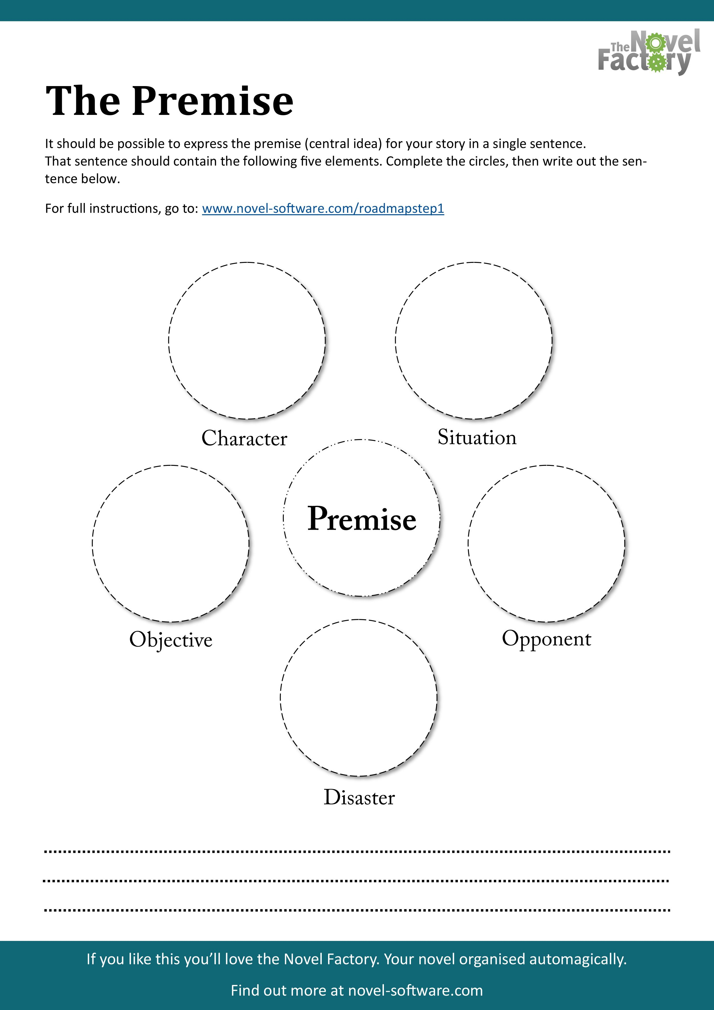 The Premise Free Downloadable Printable Worksheet