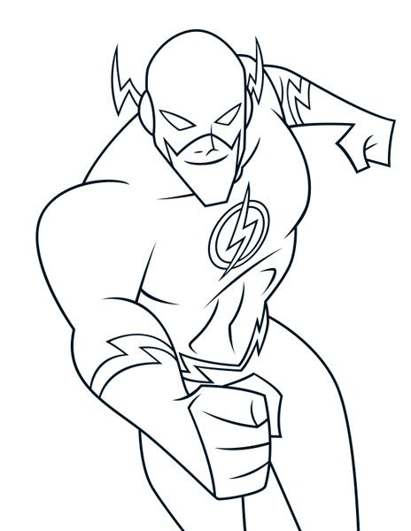 Flash Coloring Pages Superhero Coloring Pages Superhero Coloring Flash Superhero