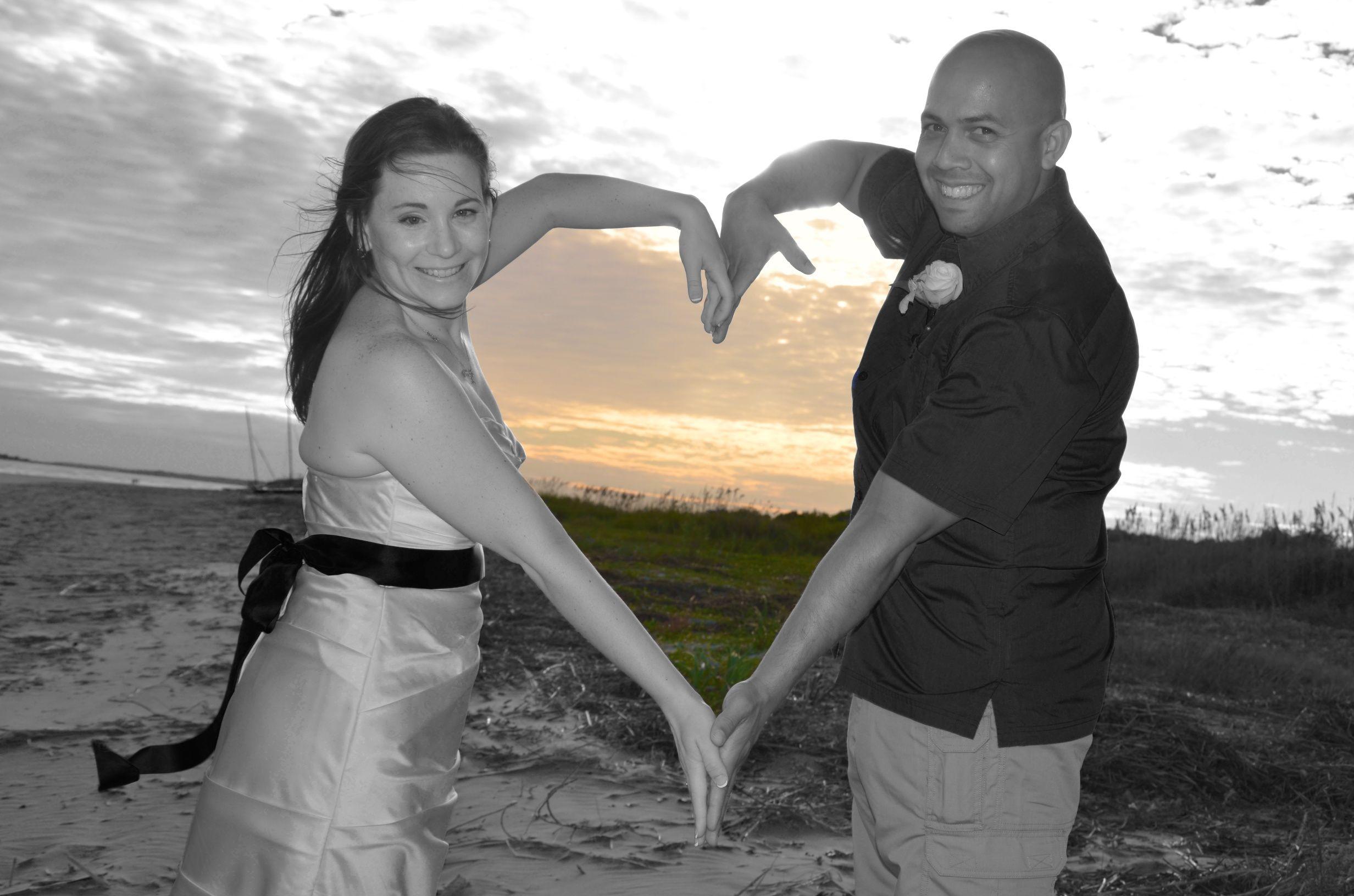 romantic sunset beach elopement Charleston, SC Romantic