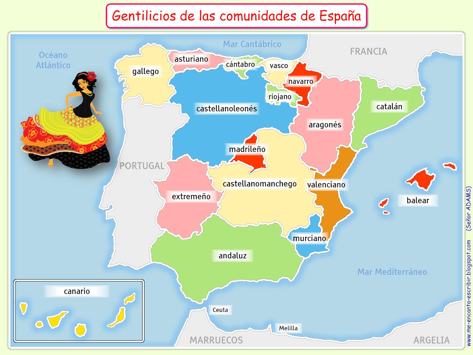 8 Ideas De Gentilicios Gentilicios Lengua Española Aprender Español