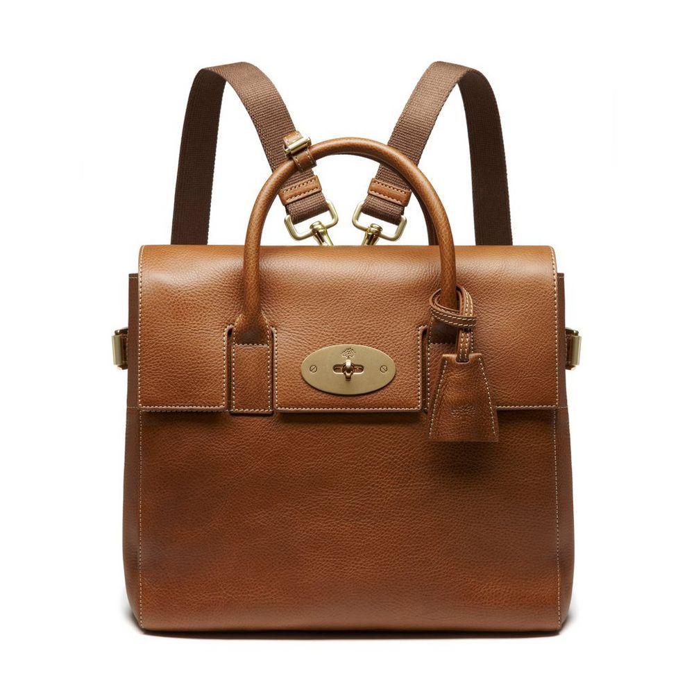 fc0b5be4b423 Mulberry - Cara Delevingne Bag in Oak Natural Leather
